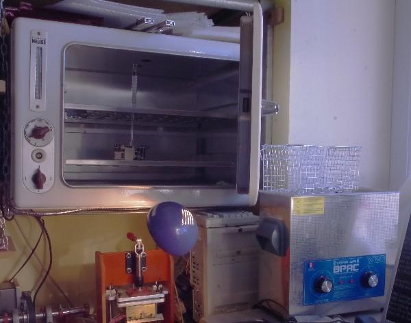 four et bac à ultra-sons pour désoxydation et sèchage des appareils ayant subi un dégât des eaux
